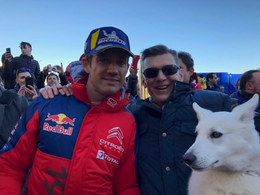 Sebastien Ogier and White Dog