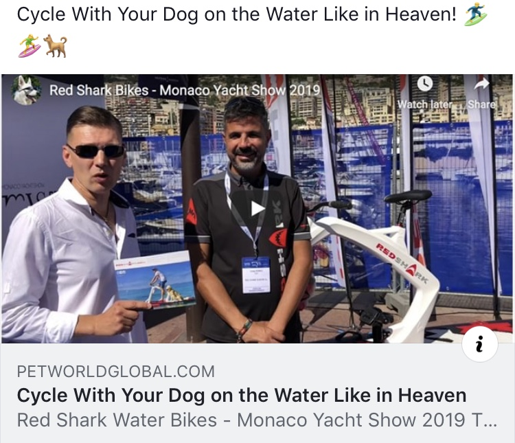 Red Shark Water Bikes in Monaco Yacht Show 2019 13