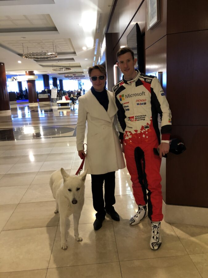 BTWW Che Guevara with Elfyn Evans after Monte-Carlo Rally 2020 🍀🐕💖🇲🇨 6